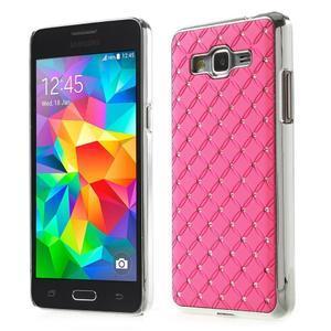 Ružový drahokamový kryt pre Samsung Grand Prime - 1