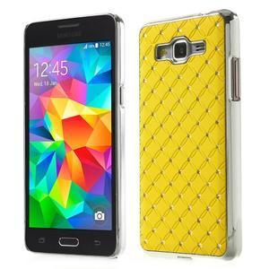 Žltý drahokamový kryt pre Samsung Grand Prime - 1