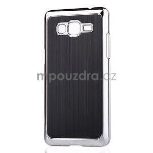 Obal s hliníkovými chrbtom na Samsung Galaxy Grand Prime - čierny