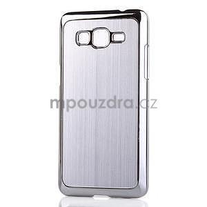 Obal s hliníkovými chrbtom na Samsung Galaxy Grand Prime - strieborný