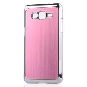 Obal s hliníkovými chrbtom na Samsung Galaxy Grand Prime - růžový