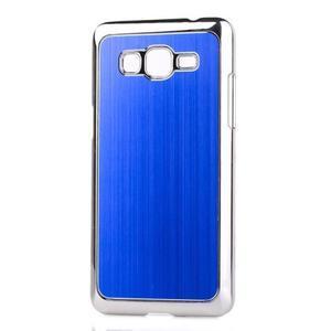 Obal s hliníkovými chrbtom na Samsung Galaxy Grand Prime - modrý