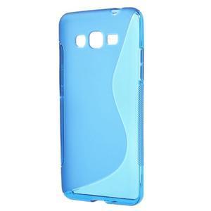 S-line gélový obal na Samsung Galaxy Grand Prime - modrý - 1