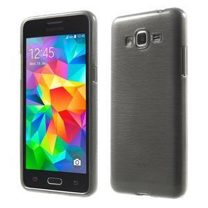 Broušený gélový obal pre Samsung Galaxy Grand Prime - šedý - 1
