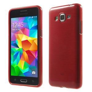 Broušený gélový obal pre Samsung Galaxy Grand Prime - červený - 1
