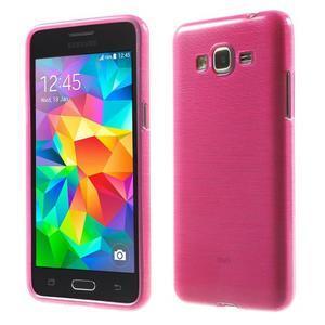 Broušený gélový obal pre Samsung Galaxy Grand Prime - rose - 1