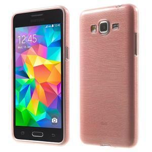 Brúsený gélový obal pre Samsung Galaxy Grand Prime - ružový - 1