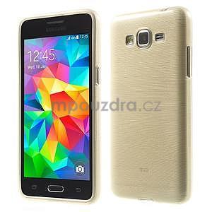 Broušený gélový obal pre Samsung Galaxy Grand Prime - zlatý - 1