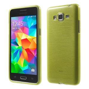 Brúsený gélový obal pre Samsung Galaxy Grand Prime - zelený - 1