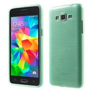Brúsený gélový obal pre Samsung Galaxy Grand Prime - cyan - 1