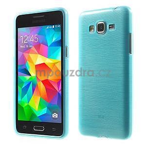 Brúsený gélový obal pre Samsung Galaxy Grand Prime - tyrkysový - 1