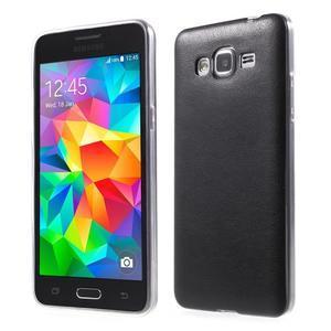 Ultratenký kožený kryt na Samsung Grand Prime - čierny - 1