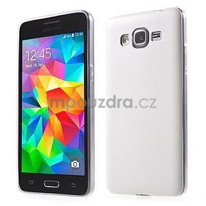 Ultratenký kožený kryt na Samsung Grand Prime - biely - 1