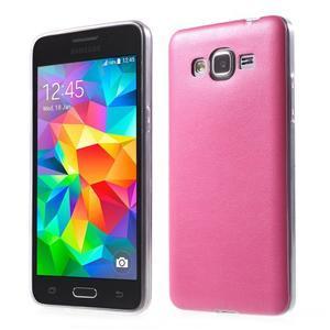 Ultratenký kožený kryt na Samsung Grand Prime - rose - 1