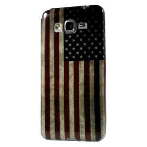 Gélový obal Samsung Galaxy Grand Prime G530H - US vlajka - 1