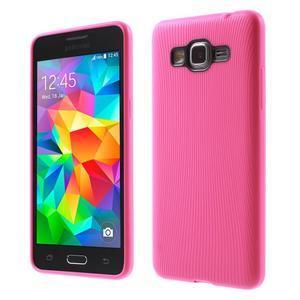 Tenký pogumovaný obal pre Samsung Galaxy Grand Prime - rose - 1