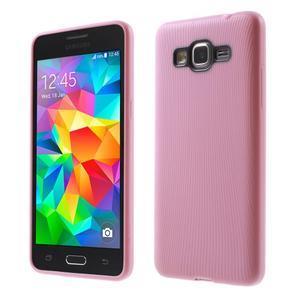 Tenký pogumovaný obal na Samsung Galaxy Grand Prime - růžový - 1