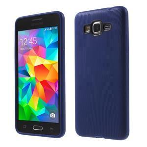 Tenký pogumovaný obal na Samsung Galaxy Grand Prime - tmavě modrý - 1