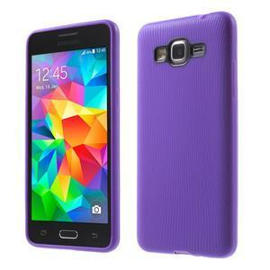 Tenký pogumovaný obal pre Samsung Galaxy Grand Prime - fialový - 1