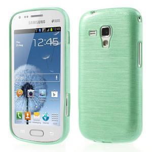 Broušený gélový kryt na Samsung Galaxy S Duos - zelený - 1