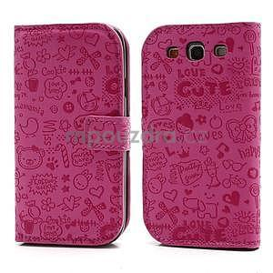 Peněženkové pouzdro na Samsung Galaxy S3 - rose - 1