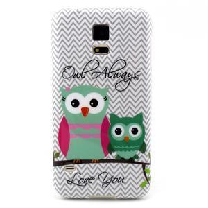 Luxury gélový obal pre mobil Samsung Galaxy S5 - sovičky - 1
