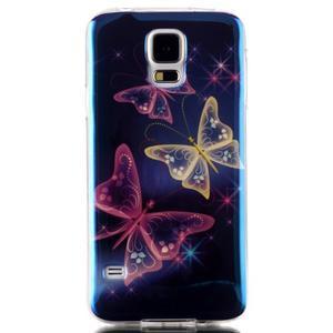 Blu-ray gélový obal s odlesky pre Samsung Galaxy S5 - čarovné motýle - 1