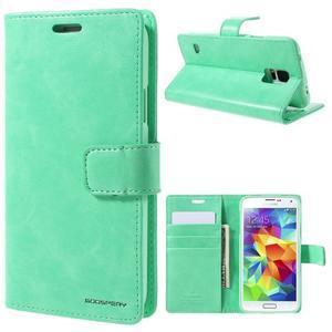 Bluemoon PU kožené puzdro pre Samsung Galaxy S5 - azúrové - 1