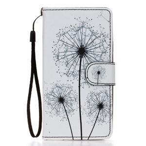 Knížkové PU kožené puzdro pre Samsung Galaxy S5 - odkvetlé púpavy - 1