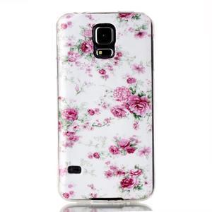 Rich gelový obal na Samsung Galaxy S5 - květiny - 1