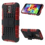 Outdoor odolný kryt na mobil Samsung Galaxy S5 - červený - 1/7