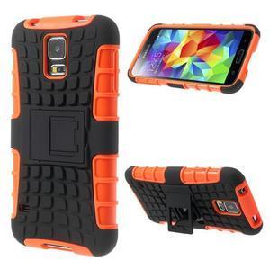 Outdoor odolný kryt na mobil Samsung Galaxy S5 - oranžový - 1