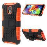 Outdoor odolný kryt na mobil Samsung Galaxy S5 - oranžový - 1/7