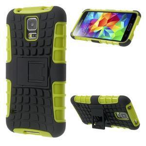 Outdoor odolný kryt pre mobil Samsung Galaxy S5 - zelený - 1