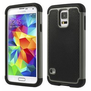 Odolný obal 2v1 pre mobil Samsung Galaxy S5 - šedý - 1