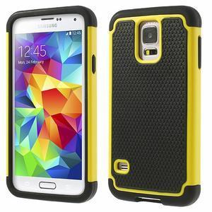 Odolný obal 2v1 na mobil Samsung Galaxy S5 - žlutý - 1