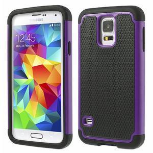 Odolný obal 2v1 na mobil Samsung Galaxy S5 - fialový - 1