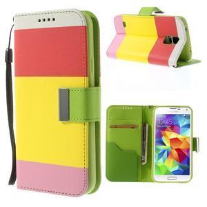 Colory PU kožené pouzdro na mobil Samsung Galaxy S5 - variant I - 1