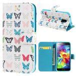 Emotive PU kožené puzdro pre Samsung Galaxy S5 mini - motýle - 1/7