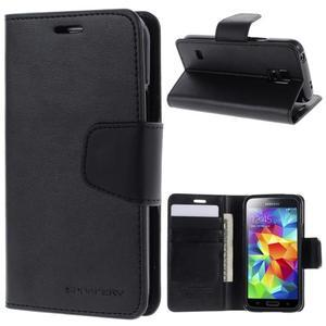 Sonata PU kožené pouzdro na Samsung Galaxy S5 mini - černé - 1