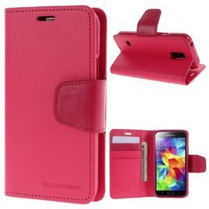 Sonata PU kožené pouzdro na Samsung Galaxy S5 mini - rose - 1