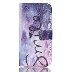 Stand peňaženkové puzdro pre Samsung Galaxy S5 mini - smile - 1