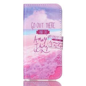 Stand peňaženkové puzdro pre Samsung Galaxy S5 mini - myšlienky - 1