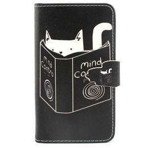 Peněženkové pouzdro na mobil Samsung Galaxy S5 mini - kniha a kočička - 1