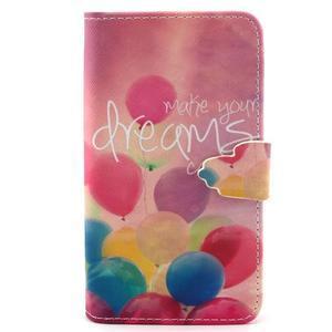 Peňaženkové puzdro pre mobil Samsung Galaxy S5 mini - balónky - 1