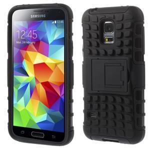 Outdoor odolný obal pre mobil Samsung Galaxy S5 mini - čierný - 1