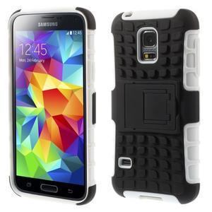 Outdoor odolný obal pre mobil Samsung Galaxy S5 mini - biely - 1