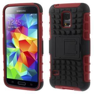 Outdoor odolný obal na mobil Samsung Galaxy S5 mini - červený - 1