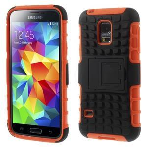 Outdoor odolný obal pre mobil Samsung Galaxy S5 mini - oranžový - 1