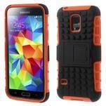 Outdoor odolný obal pre mobil Samsung Galaxy S5 mini - oranžový - 1/7